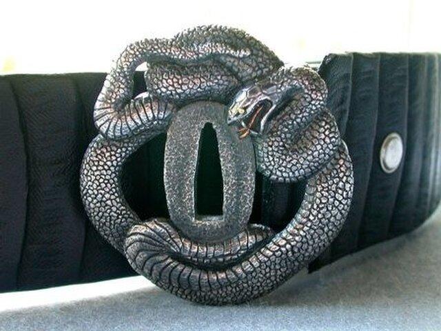 バックル&ベルト「蛇」(Silver925、Pt900、K24)の画像1枚目