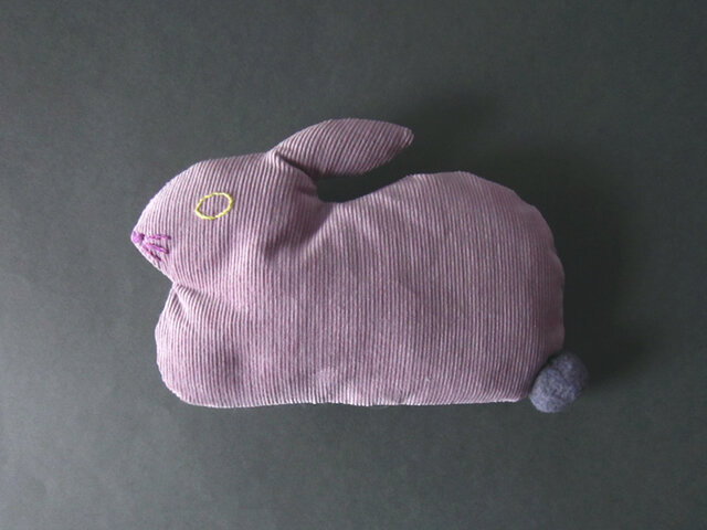 """ Stickitten""  rabbit loaf コーデュロイ / スモークパープルの画像1枚目"