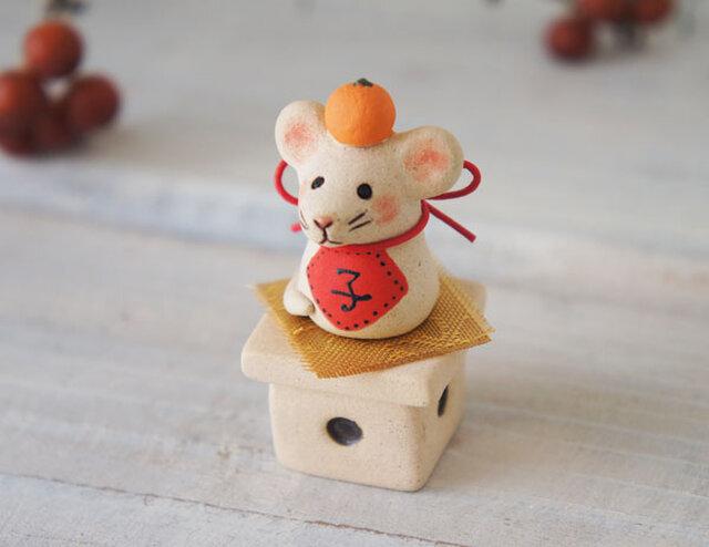 【陶器の小さなちいさな干支飾り】*子eの画像1枚目