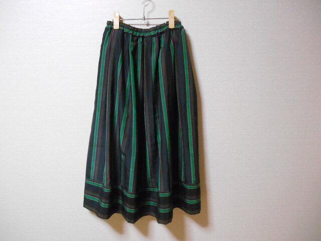 古布着物のリメイクスカート★裏地付の画像1枚目