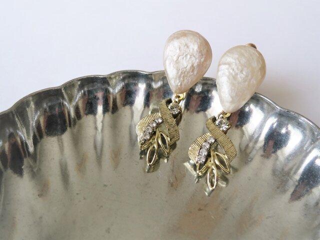パール&ビジューイヤリング ミリアムハスケル earrings Miriam Haskell <PE2-L19>の画像1枚目