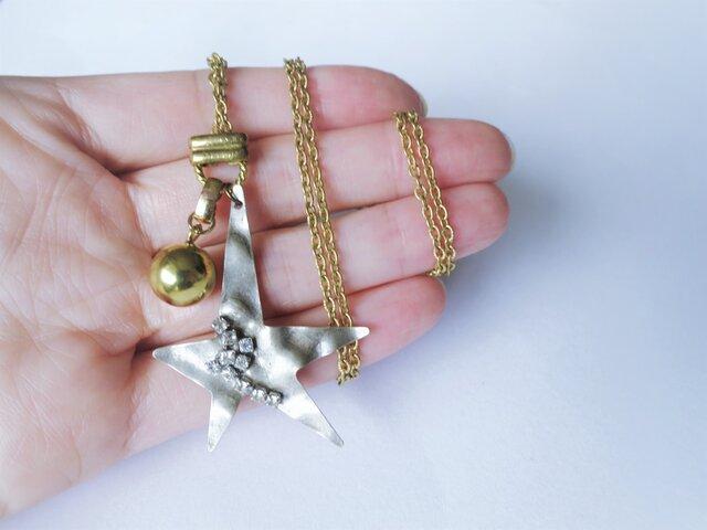 スターネックレス vintage necklace <NE3-L19>の画像1枚目