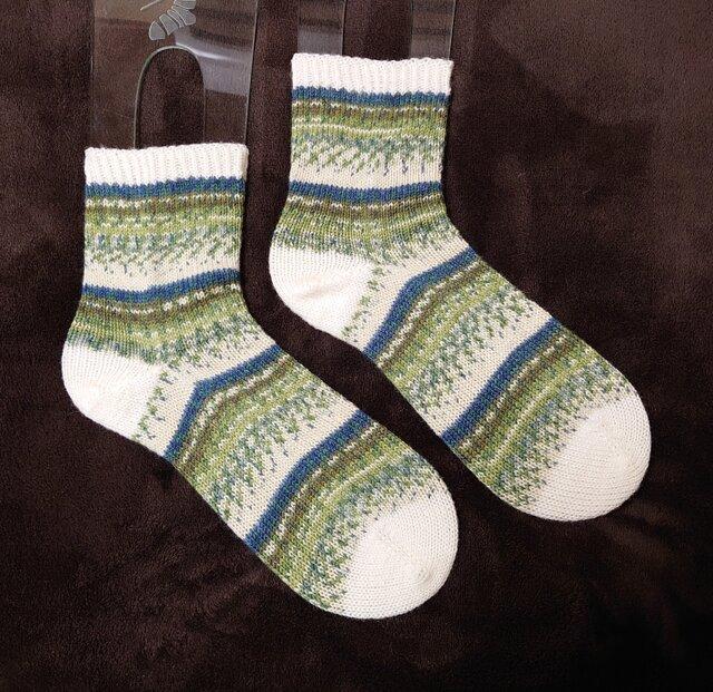 手編み靴下 opal 気仙沼 森の画像1枚目