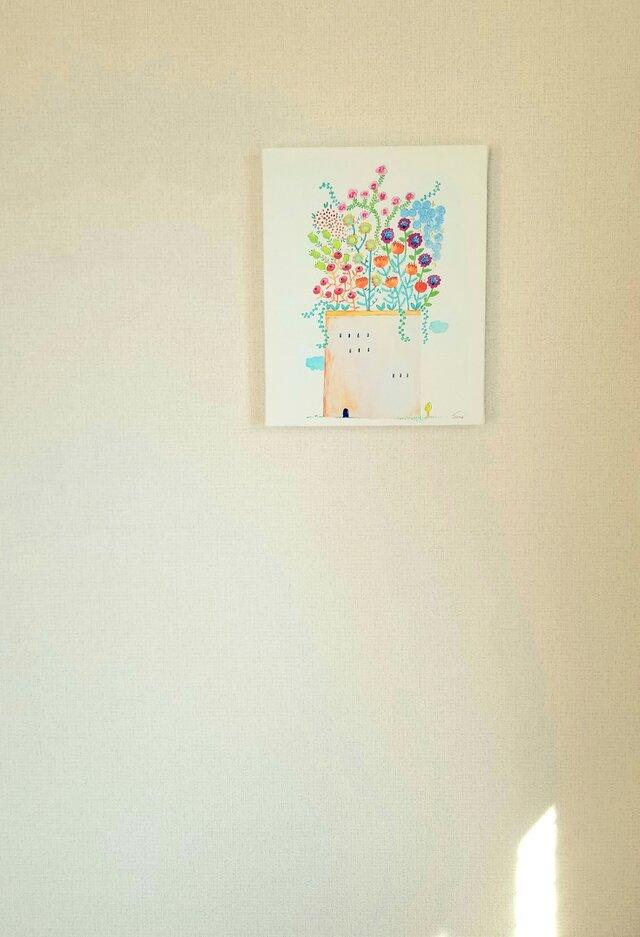 ~GrowingFlowers~キャンバスパネルプリントsonojiillustrationの画像1枚目