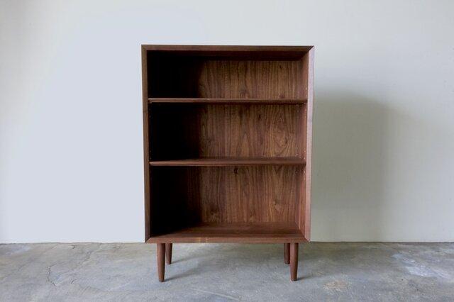 本棚 ブックシェルフ シンプルなデザイン ウォールナット 幅70cmの画像1枚目