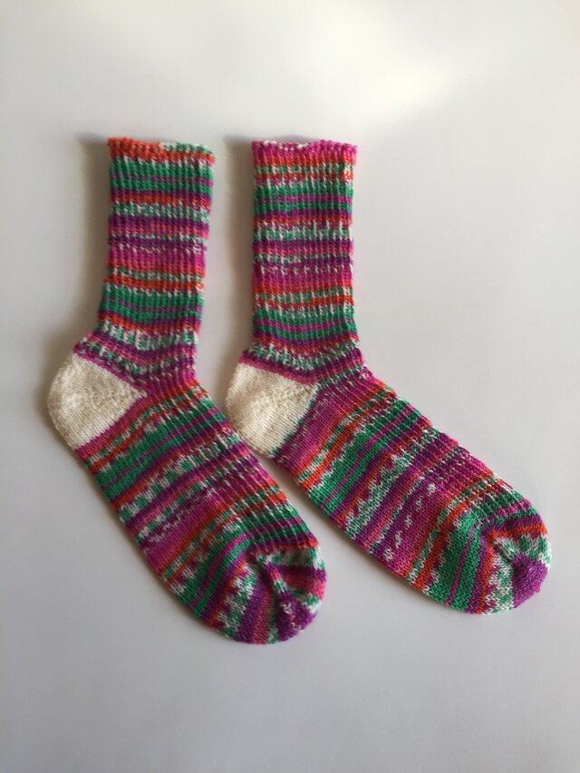 手編み靴下【Rellana ミシシッピ 1164】の画像1枚目
