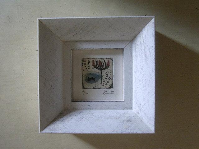 ミニ銅版画『花しずく』の画像1枚目