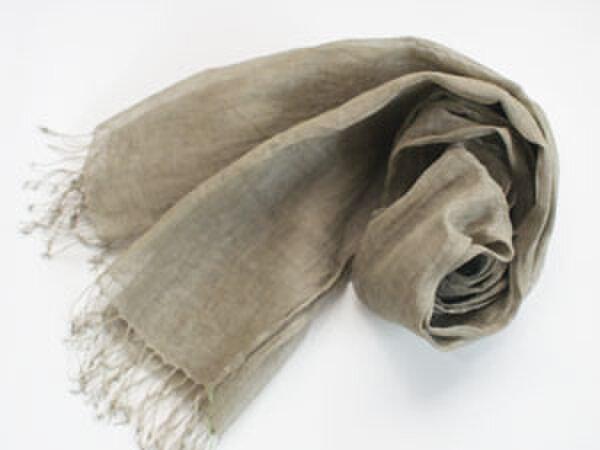 リネンストール 手織りの画像1枚目