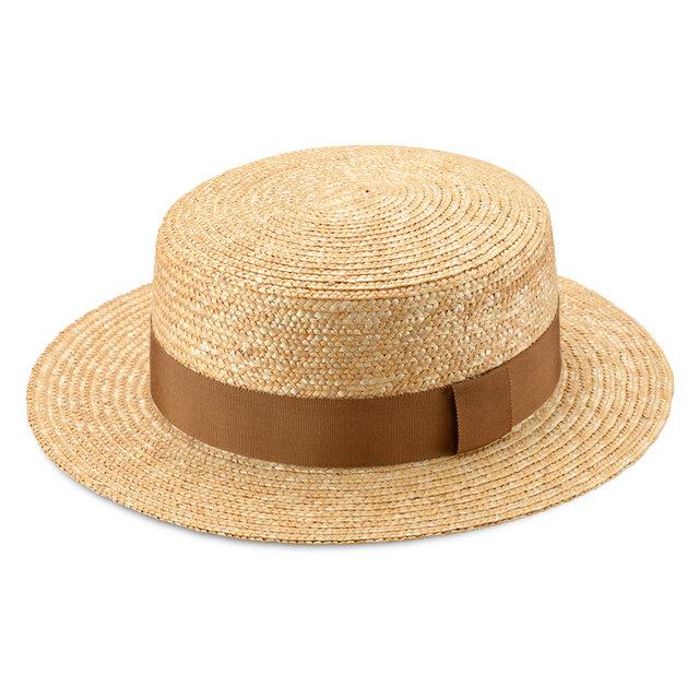 Marin/G マラン/ジー 麦わら ストローハット 婦人用 カンカン帽 ベージュ 57.5cm [UK-H026-BE-M]の画像1枚目
