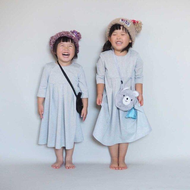 【受注制作】子ども用◇アーミッシュ風シンプルワンピース(好きな布地を選べます)の画像1枚目