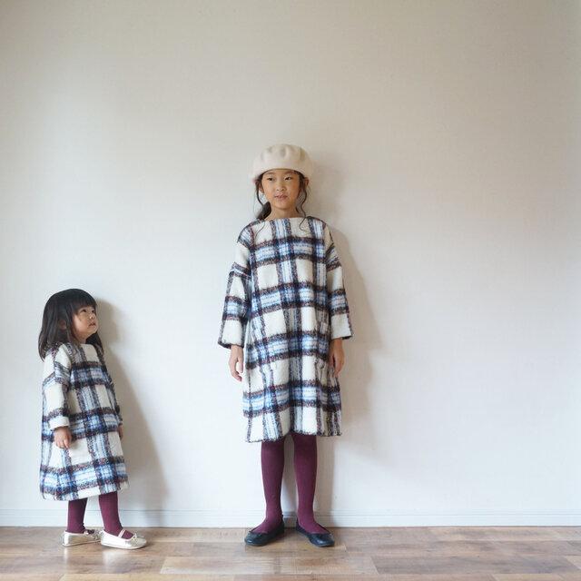 Check shaggy one-piece kids 3(120~135cm)sizeの画像1枚目