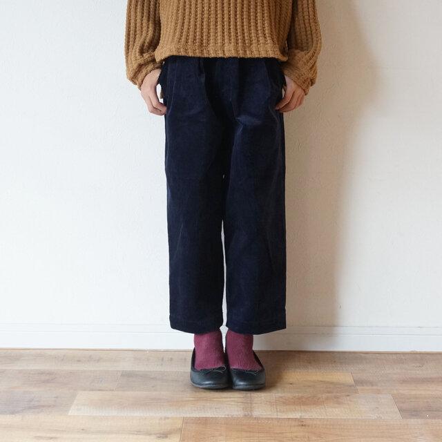10w Stretch Corduroy tuck Pants kids 2(100~115cm)sizeの画像1枚目