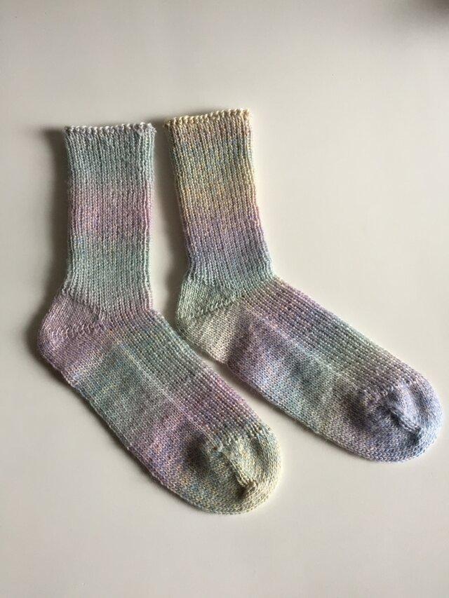 手編み靴下【シェイプイェス アワートライブ 967】の画像1枚目