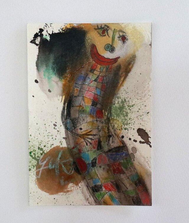 手描きの現代アート/現代絵画/おしゃれな壁掛け/可愛いインテリア/カラフルな絵画・もくもくシリーズ・天使の絵画の画像1枚目