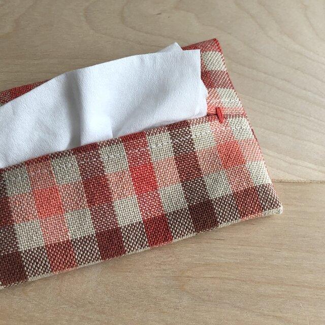 手織り布のティッシュケース *jord*の画像1枚目