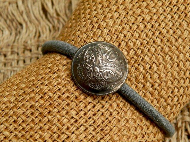 #H85 New Zealand Coin Hair Elasticの画像1枚目
