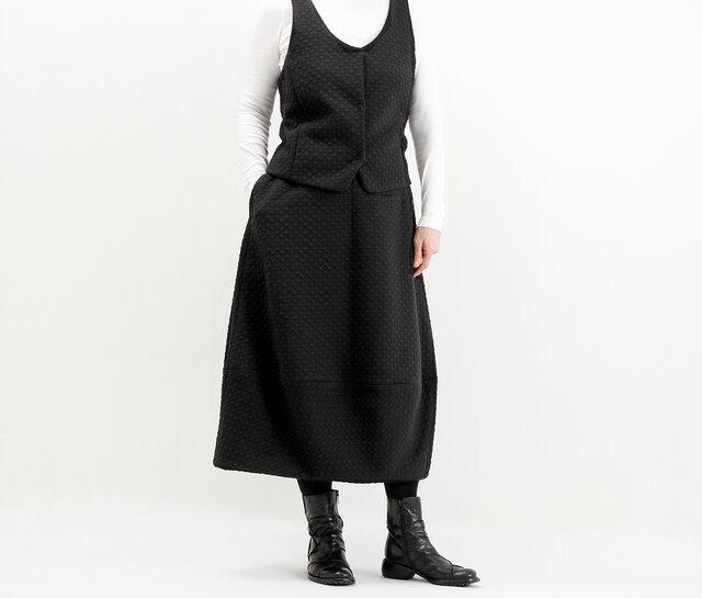 バルーンスカート(黒ストレッチ)#296の画像1枚目