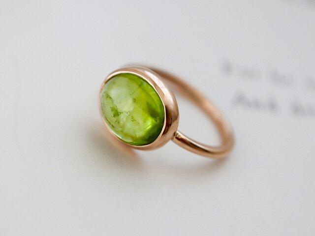 春摘みオリーブのペリドット ringの画像1枚目