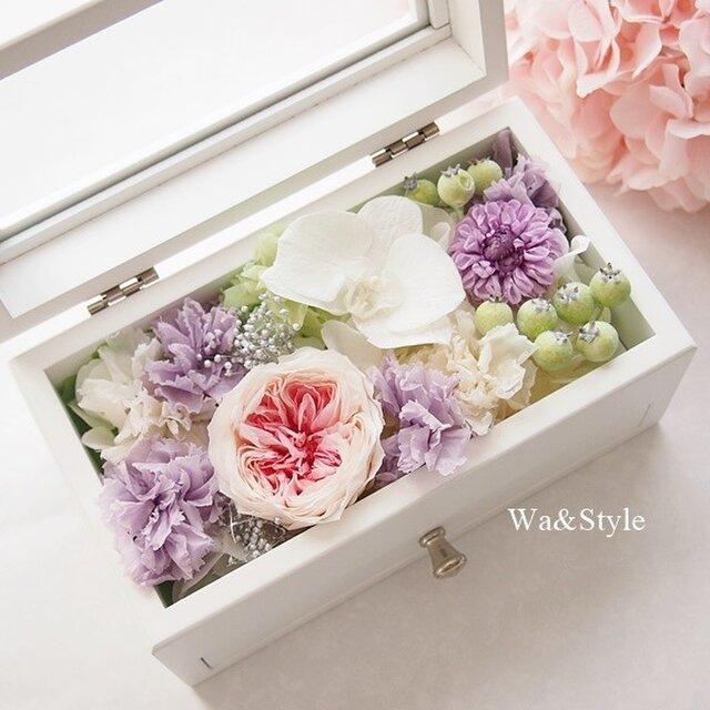 ◆再販メモリアルボックス・コチョウランピンク(お供・お線香ケース)の画像1枚目