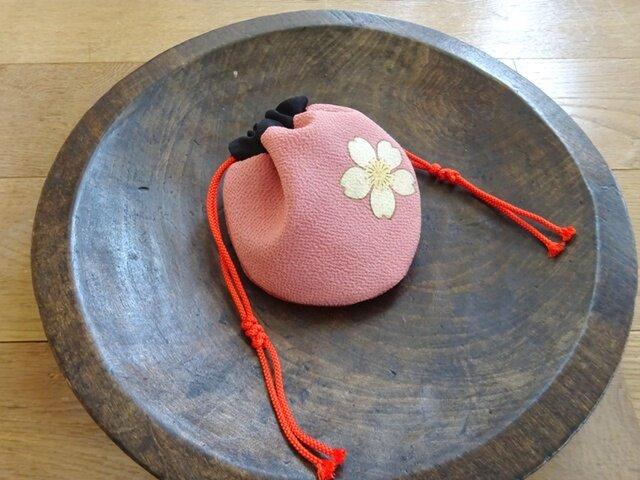 ミニ巾着(桜)の画像1枚目