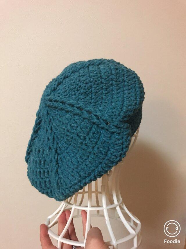 ニットベレー帽の画像1枚目