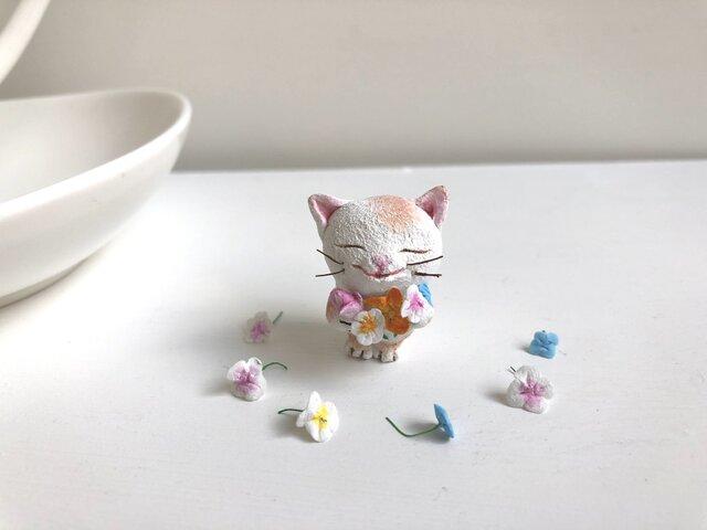 春の花束猫さんカレンダーセット茶トラ白の画像1枚目