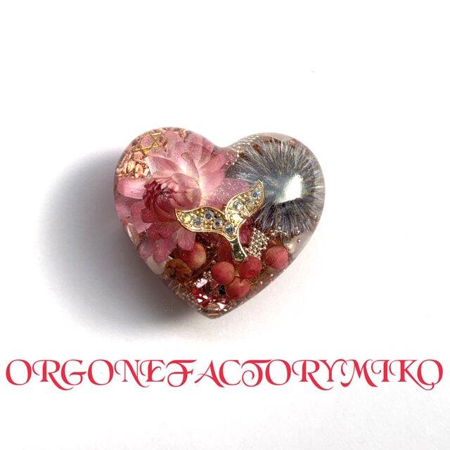 強運ホエールテール ポップ♡Sサイズ  ピンク 金運 幸運 女性性 幸運メモリーオイル入 ハート型オルゴの画像1枚目