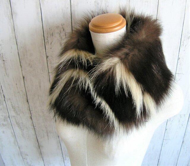 ¶ new antique fur ¶ 希少スカンクファーnejiriスヌード「raskin」の画像1枚目