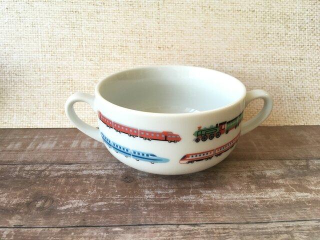名入れ可!新幹線・電車 スープカップの画像1枚目