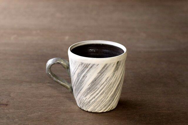 白い粉引のマグカップ iMw-007の画像1枚目