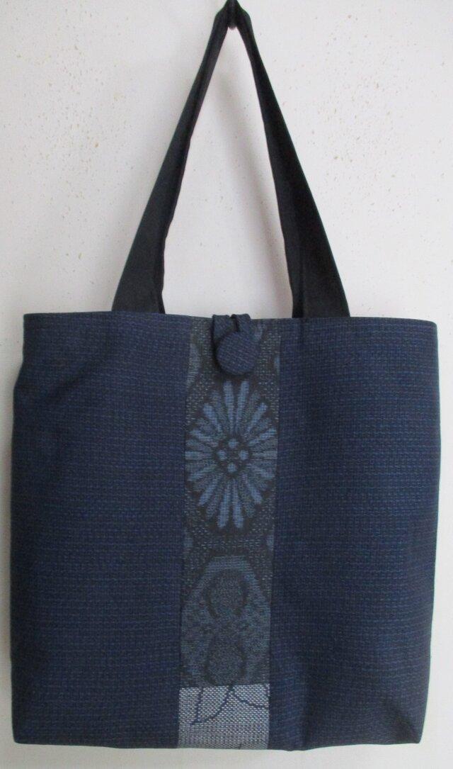 4660 大島紬で作った手提げ袋 #送料無料の画像1枚目