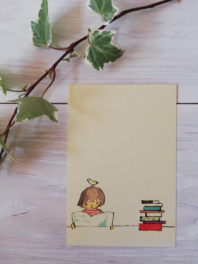 ポストカード「図書館」の画像1枚目