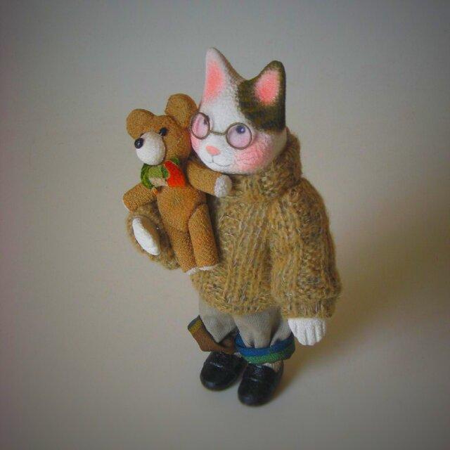 縮緬福猫 セーター猫 その十三の画像1枚目