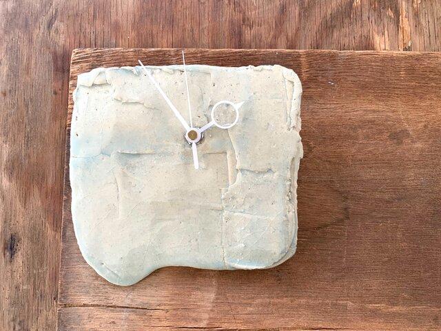 青白磁2 掛け時計の画像1枚目