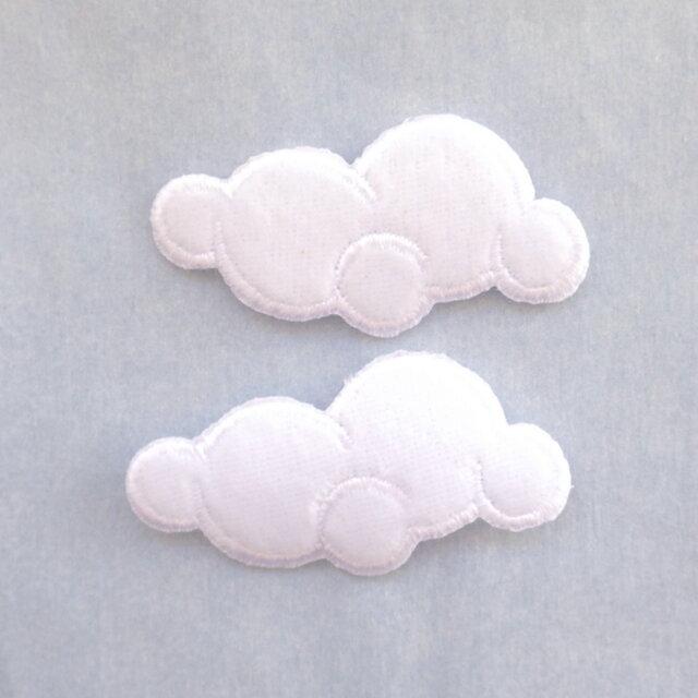 (2枚)雲のアップリケの画像1枚目