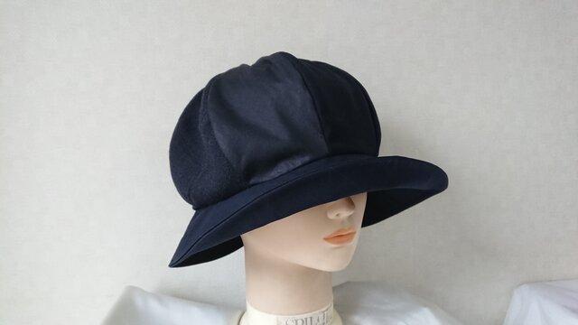 魅せる帽子☆ふんわり♪グラデーションクロッシュ~ネイビーの画像1枚目