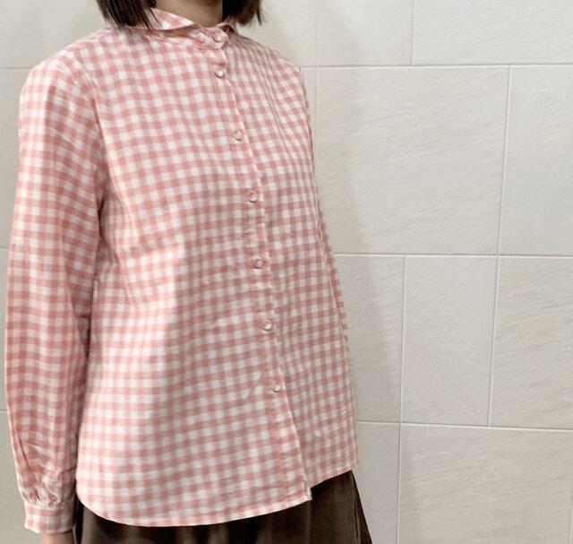 ギンガムチェックシャツ(pink)の画像1枚目