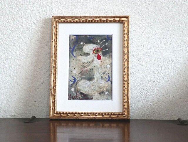 小さい絵画/現代アート/アートコレクション/壁掛けアート/可愛いインテリア/絵画壁掛け/癒しシリーズ・雪の妖精の画像1枚目