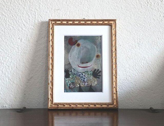 小さい絵画/現代アート/アートコレクション/壁掛けアート/可愛いインテリア/絵画壁掛け/癒しシリーズ・お父さんの画像1枚目