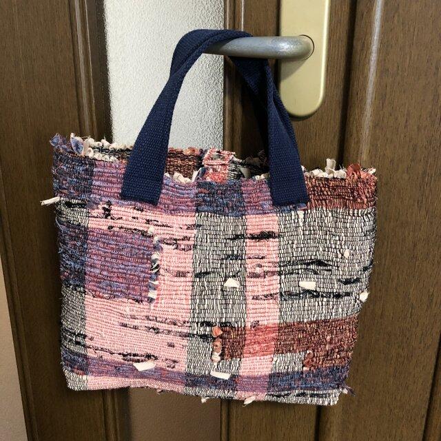 裂き織りバッグ 手織り(裏地なし)の画像1枚目