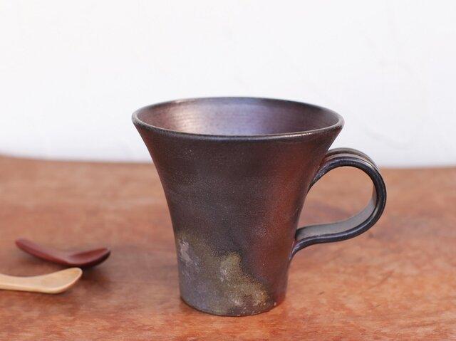 備前焼 コーヒーカップ(大) c5-089の画像1枚目