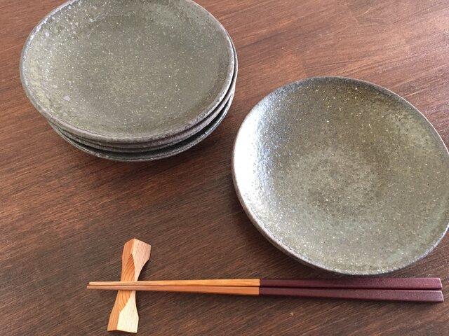 灰釉5寸皿の画像1枚目