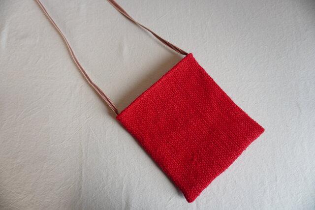裂き織りのポシェットの画像1枚目