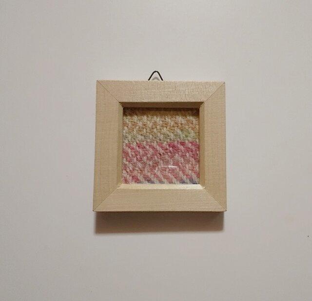 北欧風ホームスパンの手織りミニフレーム Bの画像1枚目