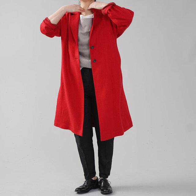 【wafu】厚地 暖リネン チェスターコート 表起毛 春コート スプリングコート/クリストローゼ h023c-ctr3の画像1枚目