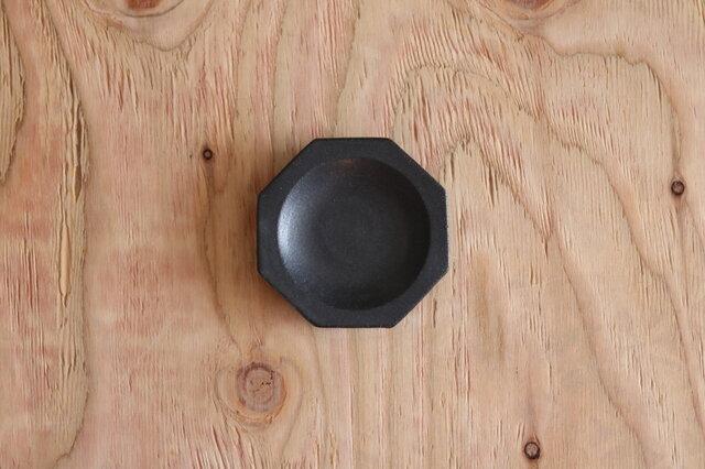 八角豆皿 黒の画像1枚目