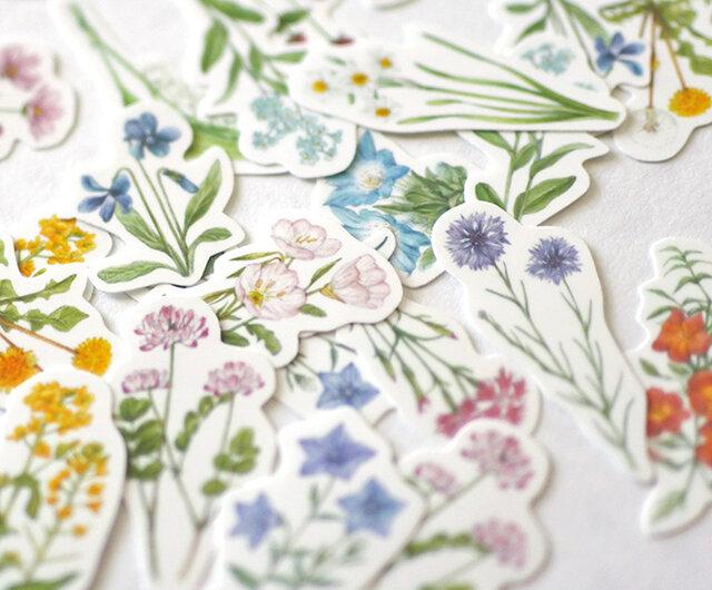 野の花のフレークシールの画像1枚目