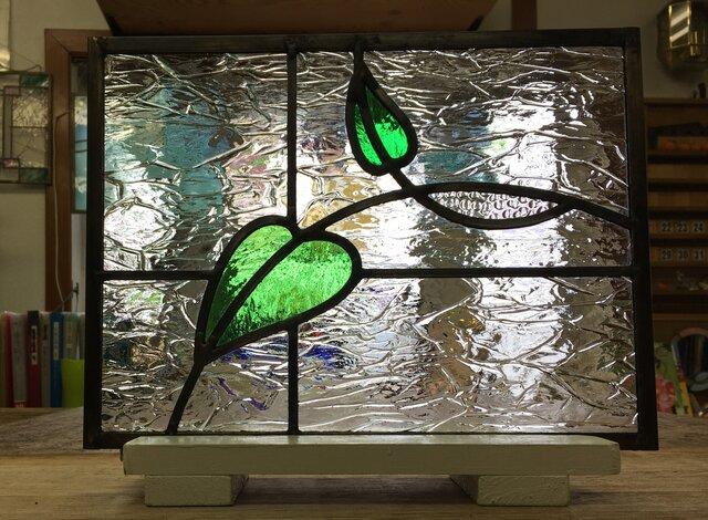「葉っぱのステンドグラスパネル no.2」ケイム組の画像1枚目