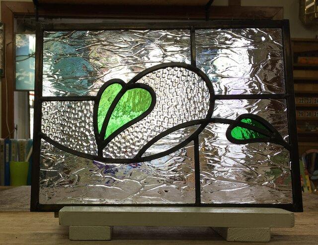 「葉っぱのステンドグラスパネル no.1」ケイム組の画像1枚目