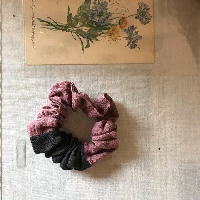 コットンリネンのふんわりシュシュ(152)の画像1枚目